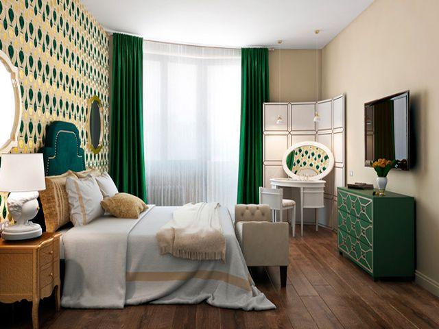 Оформление спальни в стиле фьюжн