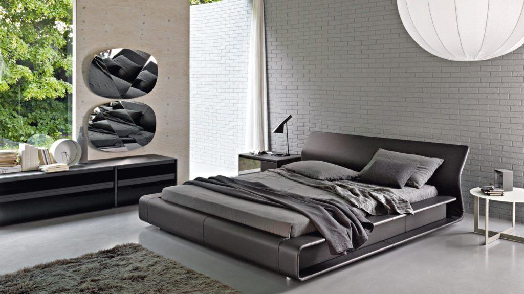 Очарование строгости. Спальня в стиле хай-тек