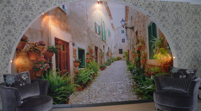 Украшение помещения с помощью фотообоев