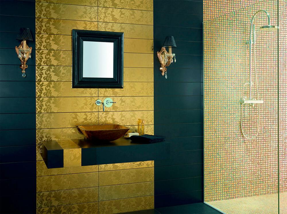 Керамическая плитка в дизайне интерьера ванной
