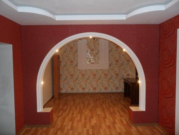 Увеличиваем пространство при помощи арки