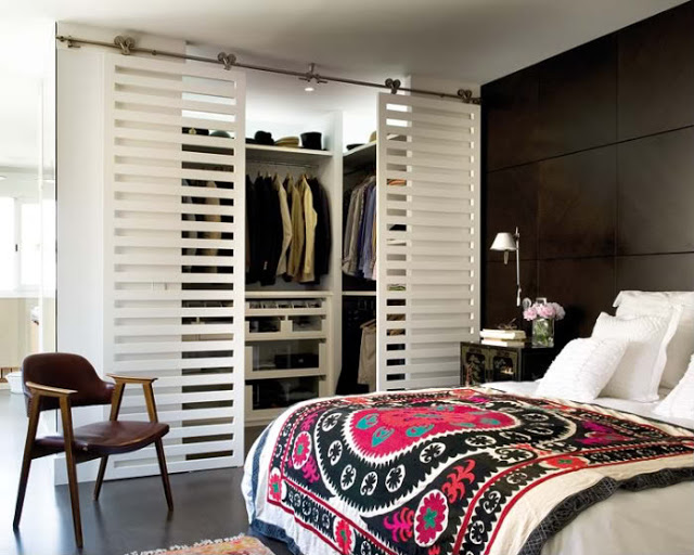 Дизайн и компактность гардеробной части спальни