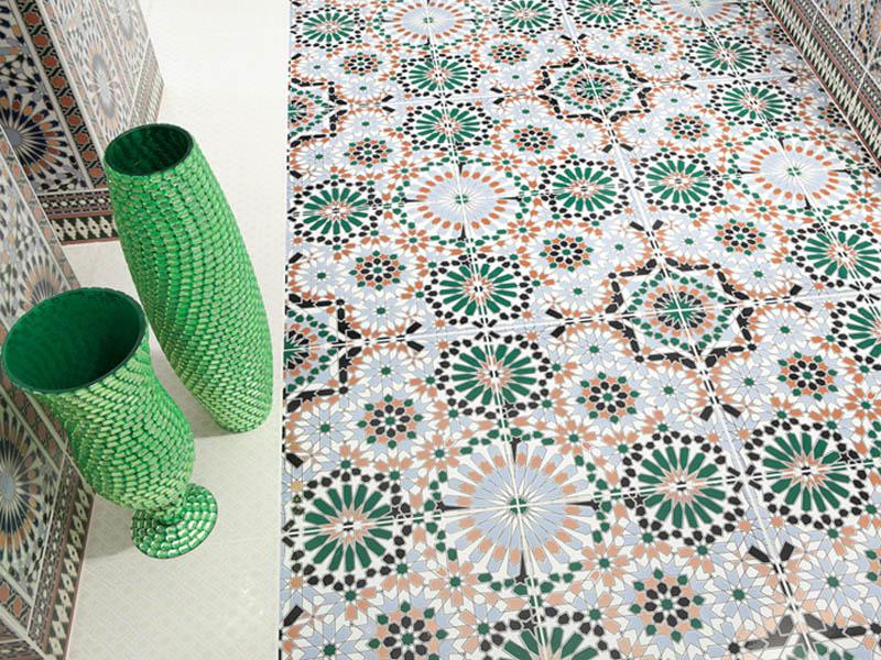 Марокканский стиль кухни: плитка для пола