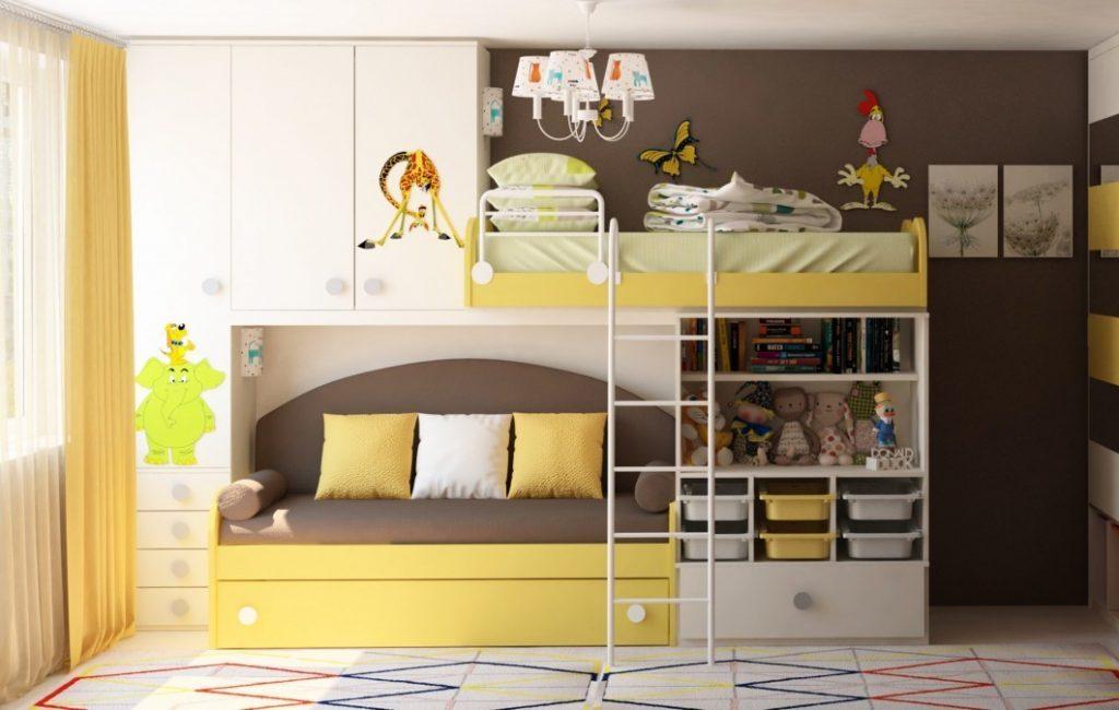 Дизайн-проект детской для двух детей