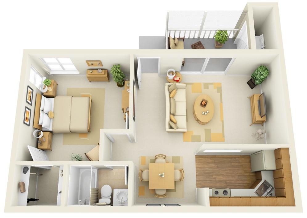Как спланировать однокомнатную квартиру