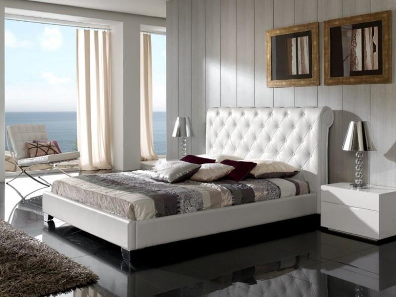 Модное изголовье в дизайне кровати