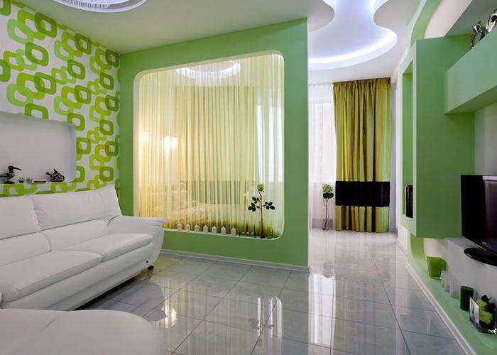 Дизайн гостиной со спальной комнатой