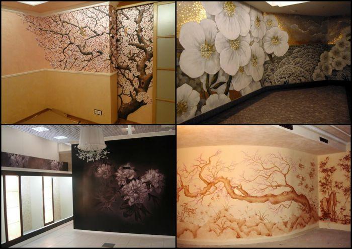 Интерьер с художественной росписью стен