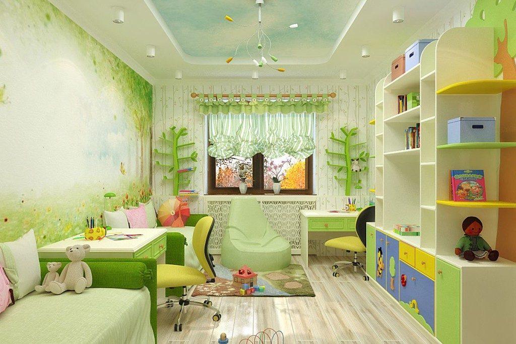 Дизайн и цвет детской комнаты