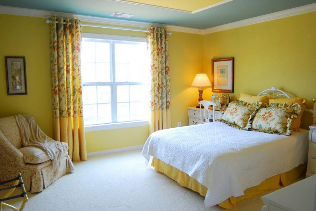 Выбор цвета стен в интерьере спальни