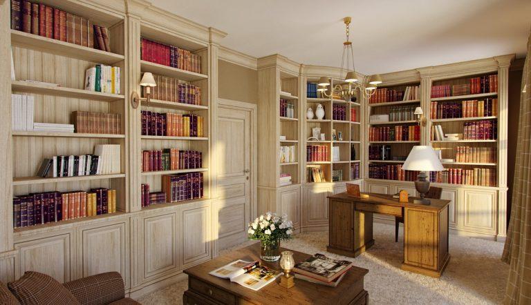 Мебель домашней библиотеки