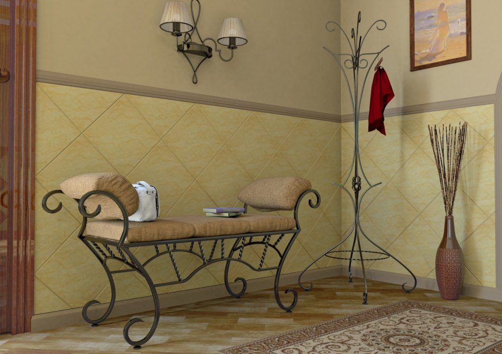 Кованые изделия в интерьере гостиной