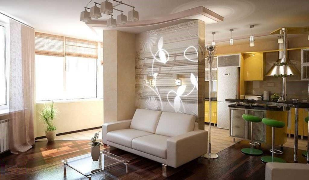 Как зонировать пространство кухни в квартире-студии?